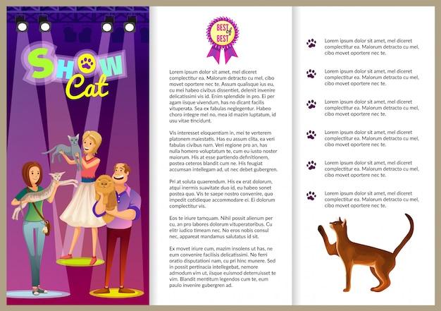 Show cat flyer for presentation.