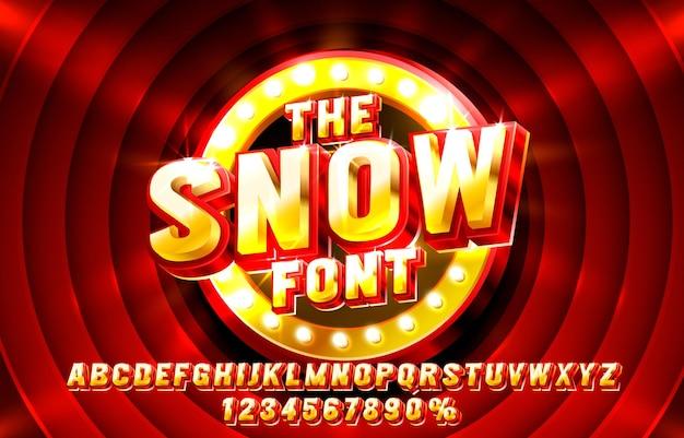 フォントセットのタイポグラフィを表示する