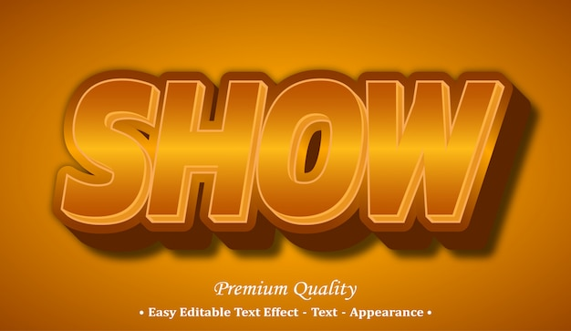 Show  font style effect