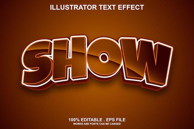 Показать текстовый эффект редактируемый
