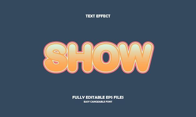 Show text effect