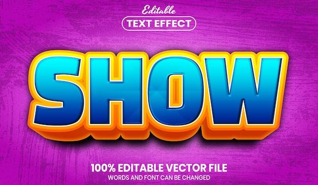 Показать текст, редактируемый текстовый эффект в стиле шрифта