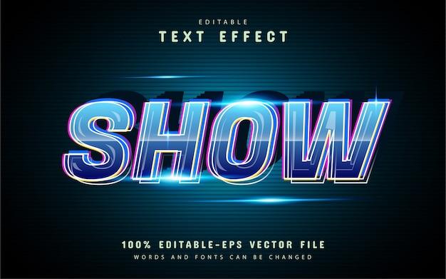 Показать векторный текстовый эффект