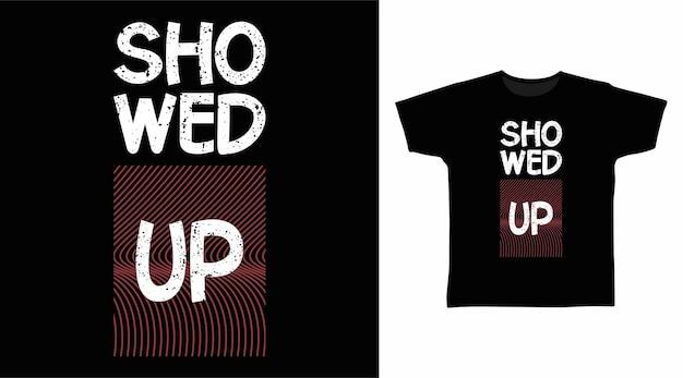 타이포그래피 티셔츠 디자인을 선보였습니다.