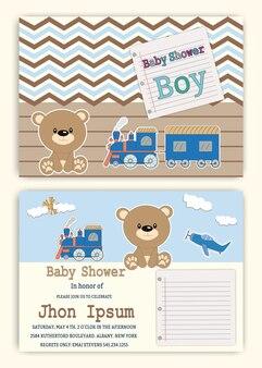 Shower party invitation to print children stationery cards birthday.
