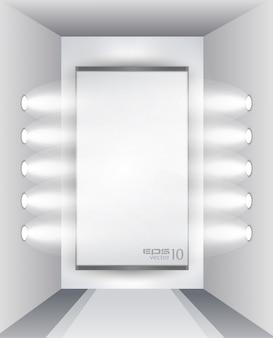 Выставочный зал для продукта со светодиодными прожекторами