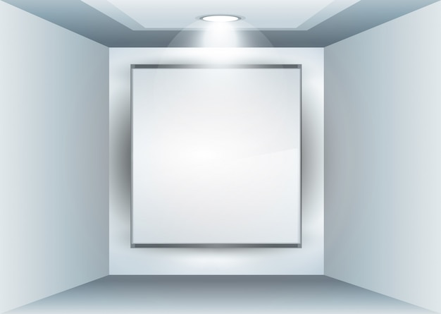 Showroom panel for product with led spotlights