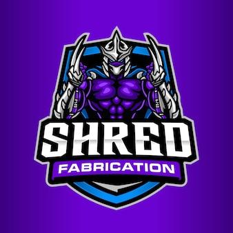 Shred fabrication logo template