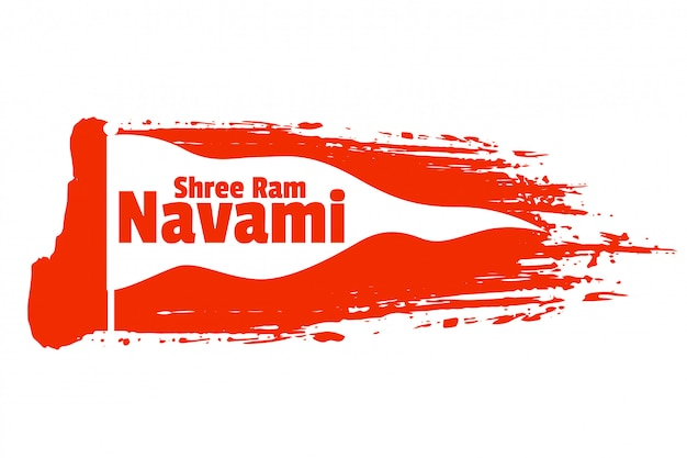 Shree ram navami festival wishes card design