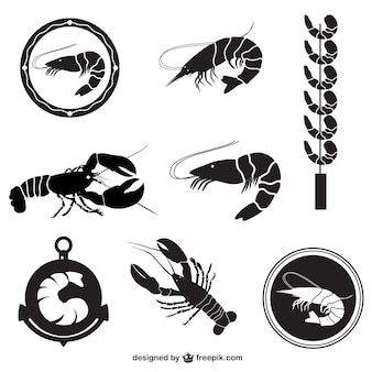 Shrimps and lobsters collection