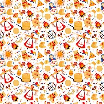 Shrovetide or maslenitsa pattern