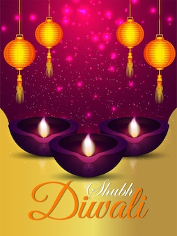 Shubh diwali celebration flyer