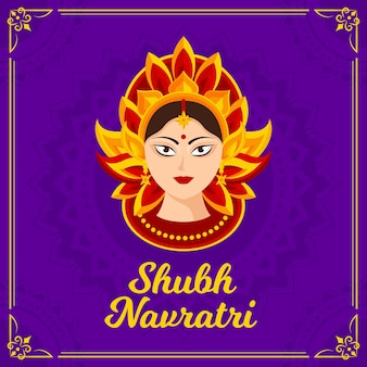 Shubh navratri with hindu goddess
