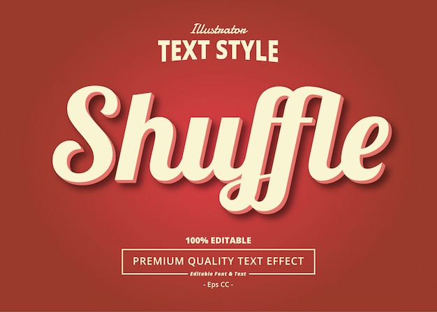 Shuffle text effect