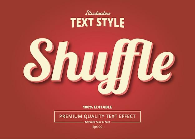 Shuffle text effect Premium Vector
