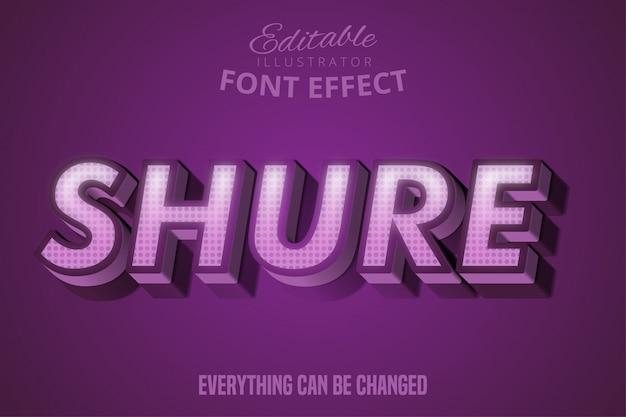 Shureテキスト、編集可能なフォント効果