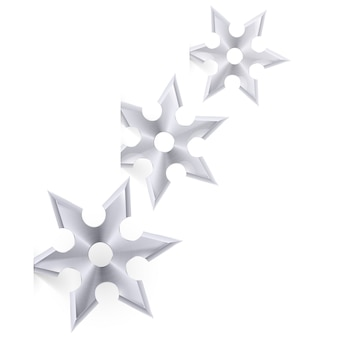 Shuriken on white