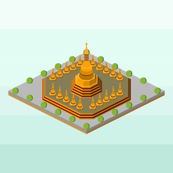 ミャンマーのshwedagonパゴダ