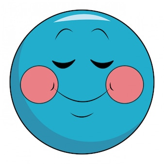 Shy smile chat emoticon