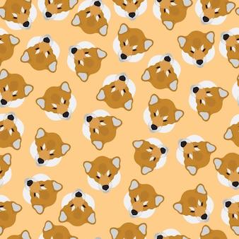 Siba dogs seamless pattern