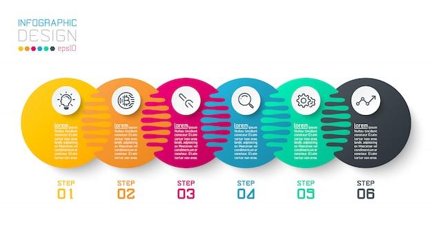 Sic harmonious circle infographics.