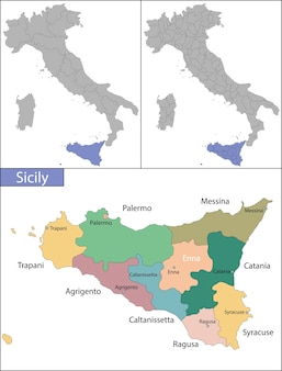 Сицилия - самый большой остров в средиземном море.