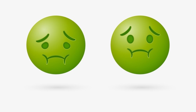 Больной смайлик или тошнотворный смайлик должен вызвать рвоту с зеленым лицом