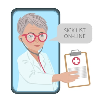 Sick list online coronavirus medicine consultation