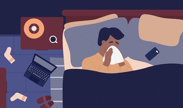 鼻炎インフルエンザの病気の人の患者インフルエンザの風邪の季節の病気の問題の人