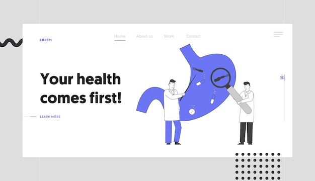 Sick stomach helicobacter disease website landing page