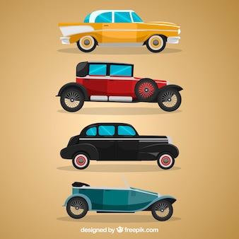 Vista laterale delle auto classiche