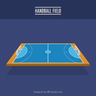 Side view handball field design