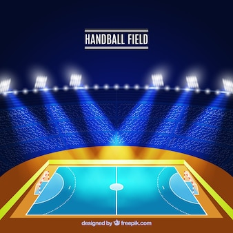 Side view handball field design