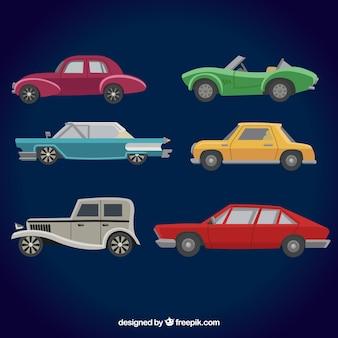 Vista laterale delle automobili d'epoca