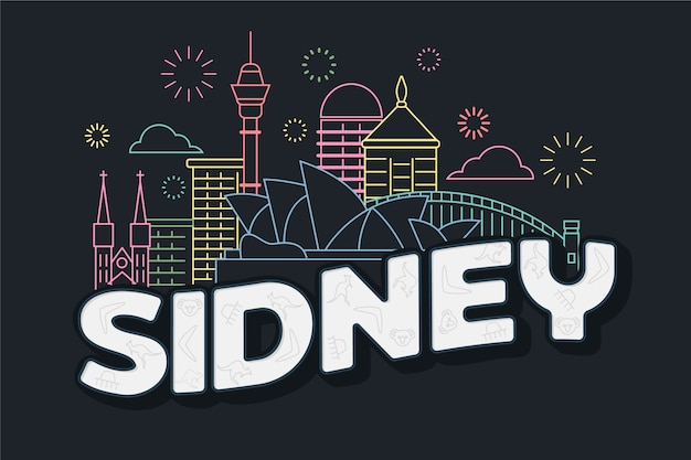 Sidney city lettering
