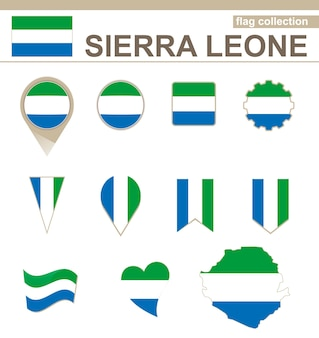 Sierra leone flag collection, 12 versions
