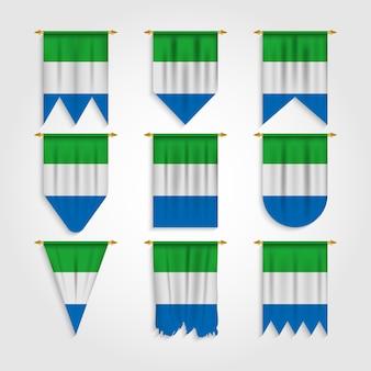 다양한 모양의 시에라 리온 국기, 다양한 모양의 시에라 리온 국기