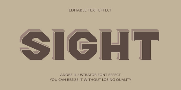 Sight editable text font effect