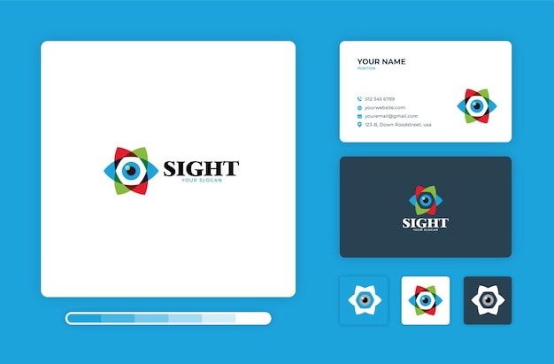 Sight logo design template