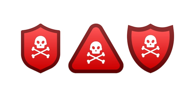 A sign of attention to the virus. vector stock illustration.