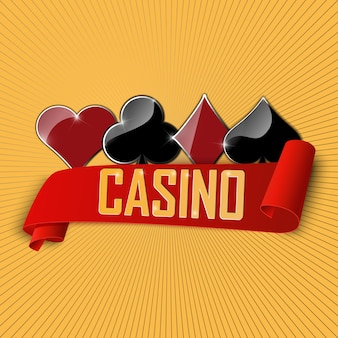 The sign for casino and poker club.