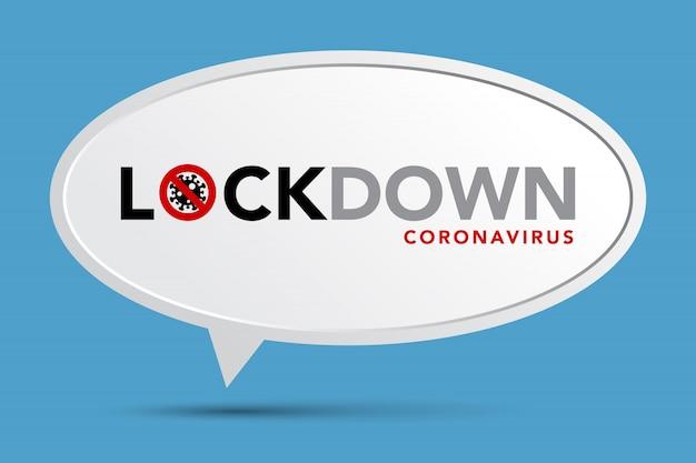 注意コロナウイルスに署名します。ロックダウンバナー。