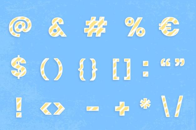 Illustrazione del set di caratteri del segno