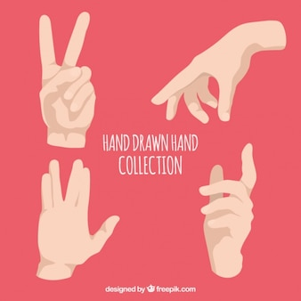 Sign language in realistic style