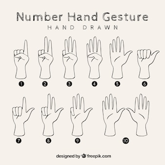 Sign language with hand sketches