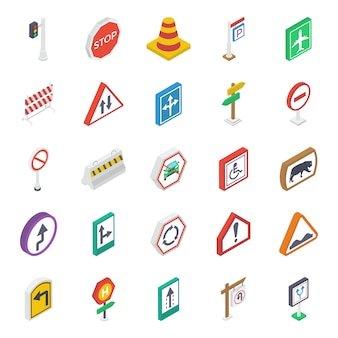 Sign and symbols isometric pack
