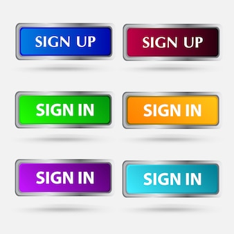 Sign up button vector icon