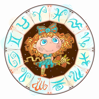 Знак дева в круге зодиака