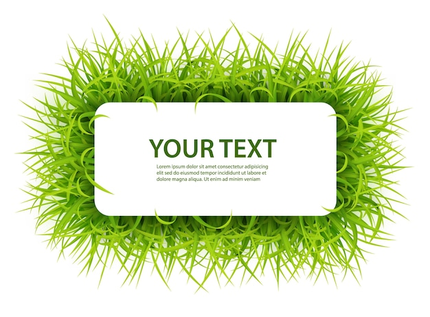 Sign with text space of young grass