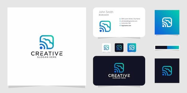 Сигнальное облако логотип графический дизайн для других целей очень подходит для использования